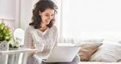 women working from home office